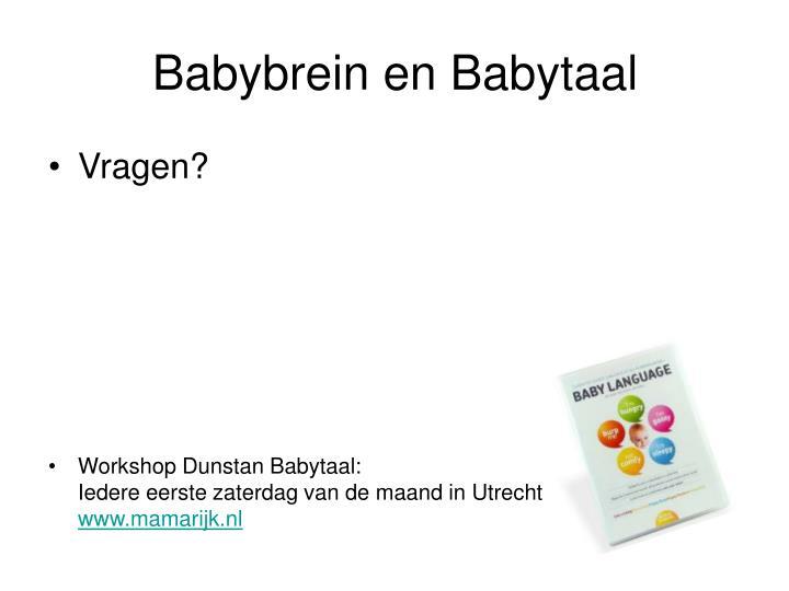 Babybrein en Babytaal