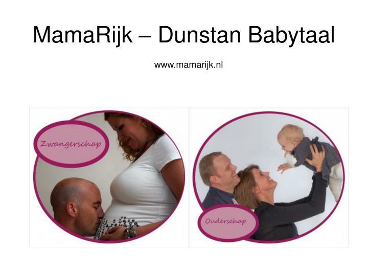 Mamarijk dunstan babytaal