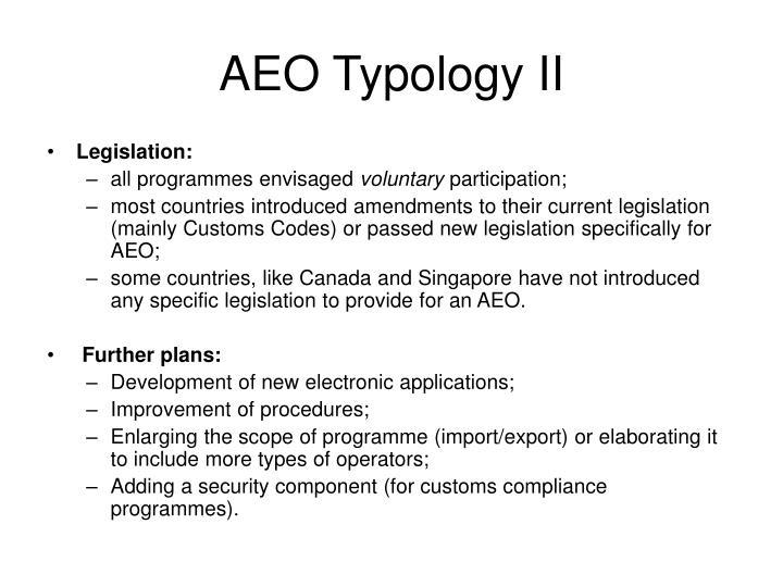 AEO Typology II