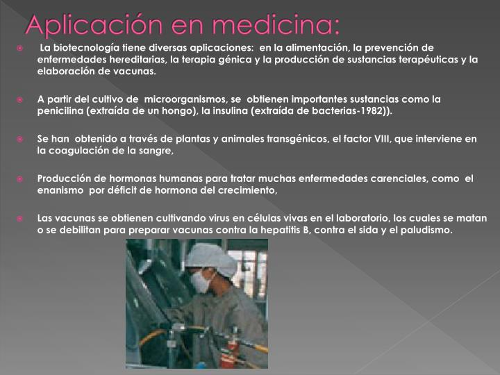 Aplicación en medicina: