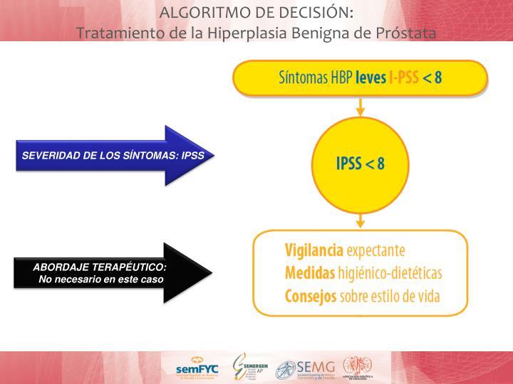 ALGORITMO DE DECISIÓN: