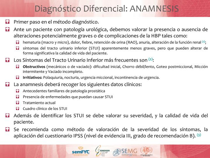 Diagnóstico Diferencial: ANAMNESIS