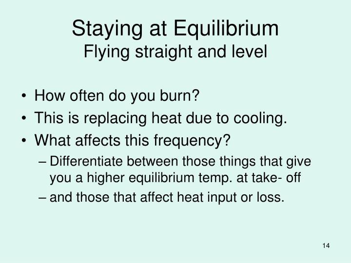 Staying at Equilibrium