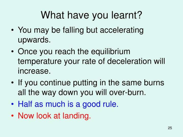 What have you learnt?