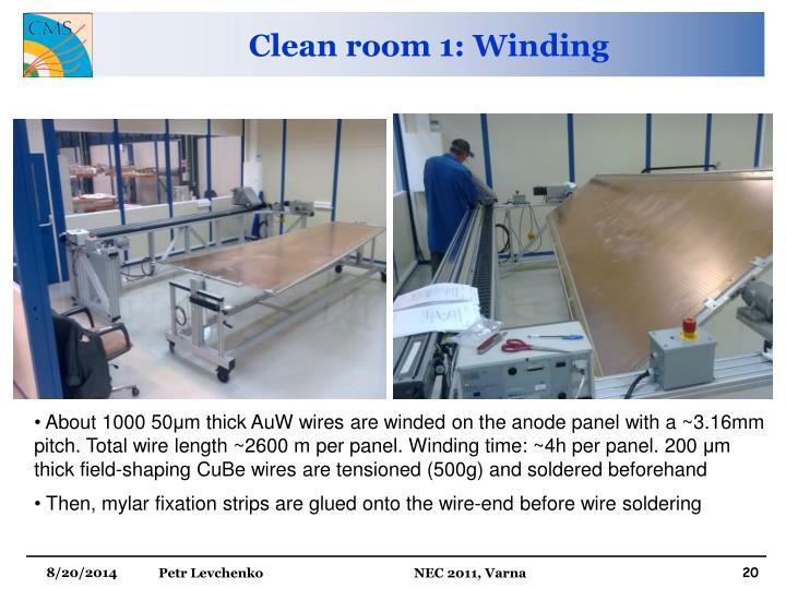 Clean room 1: Winding
