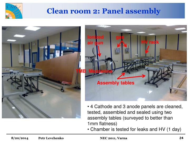 Clean room 2: Panel assembly