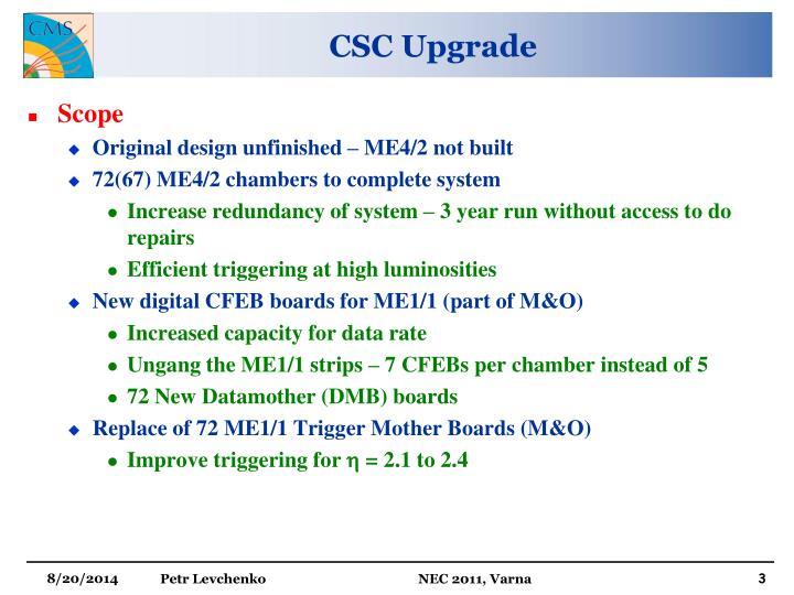 Csc upgrade