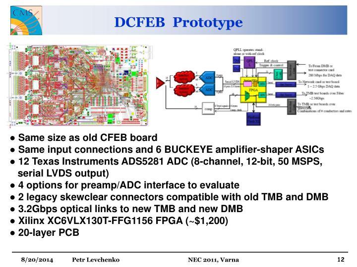 DCFEB  Prototype