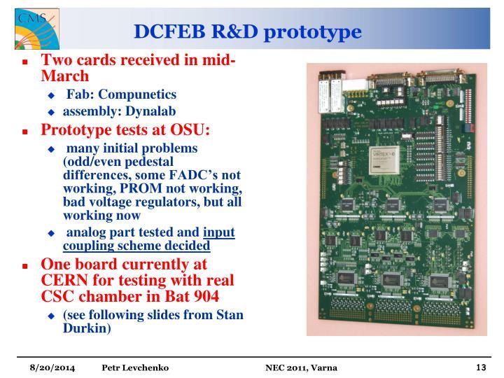 DCFEB R&D prototype