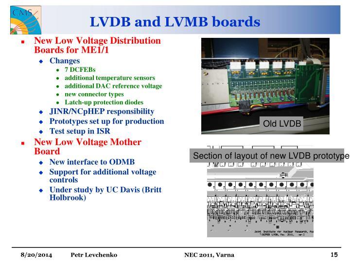 LVDB and LVMB boards