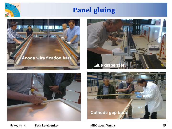 Panel gluing