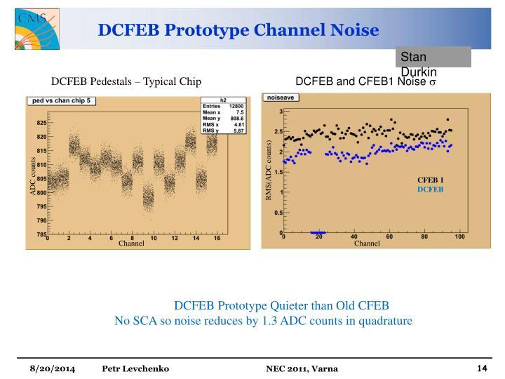 DCFEB Prototype Channel Noise