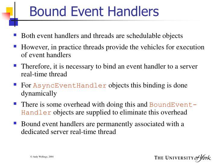 Bound Event Handlers