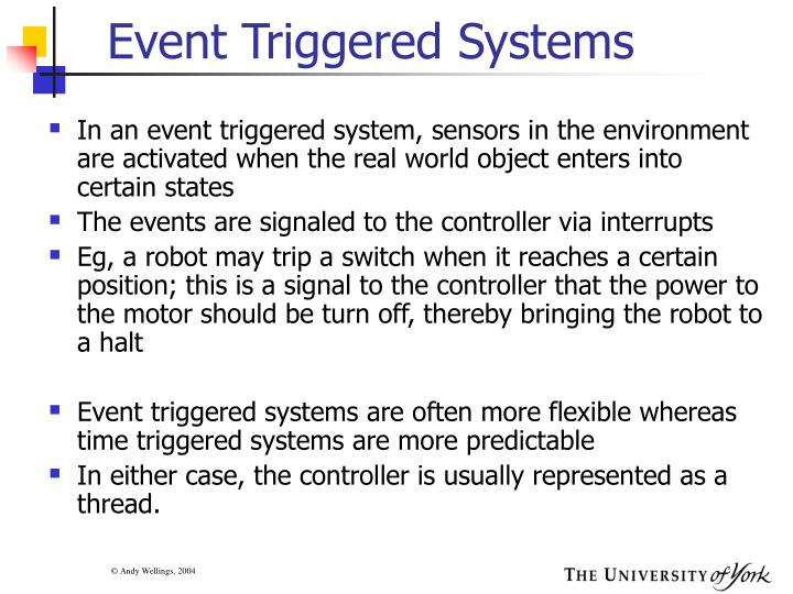 Event Triggered Systems