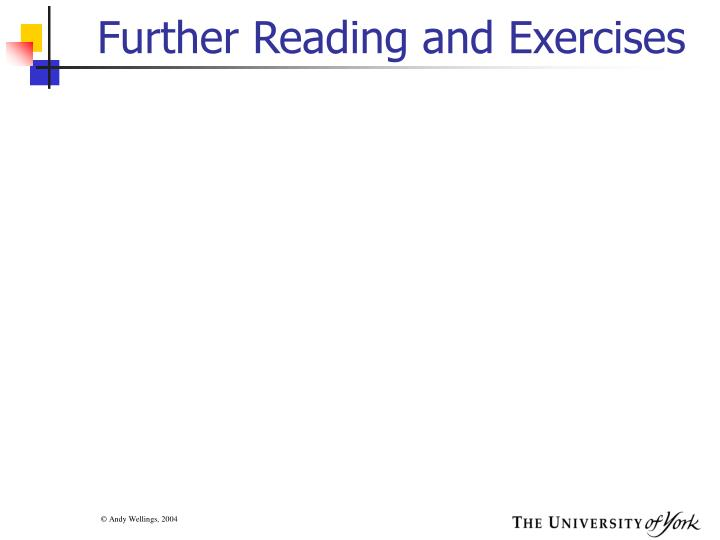 Further Reading and Exercises