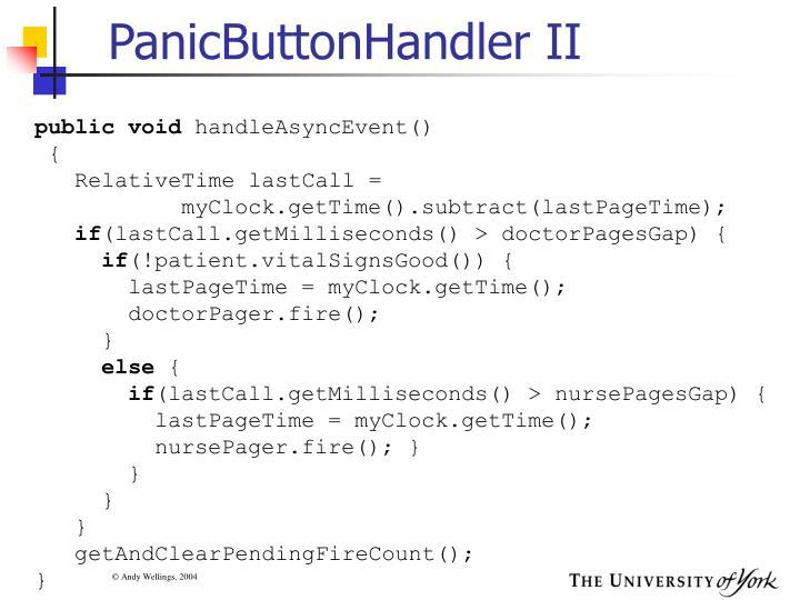 PanicButtonHandler II