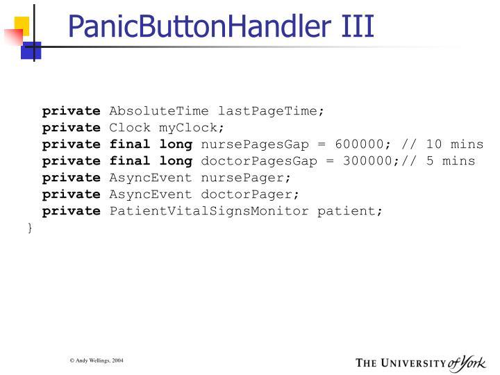 PanicButtonHandler III