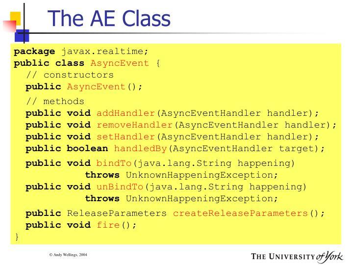 The AE Class