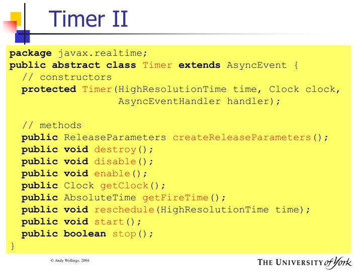 Timer II