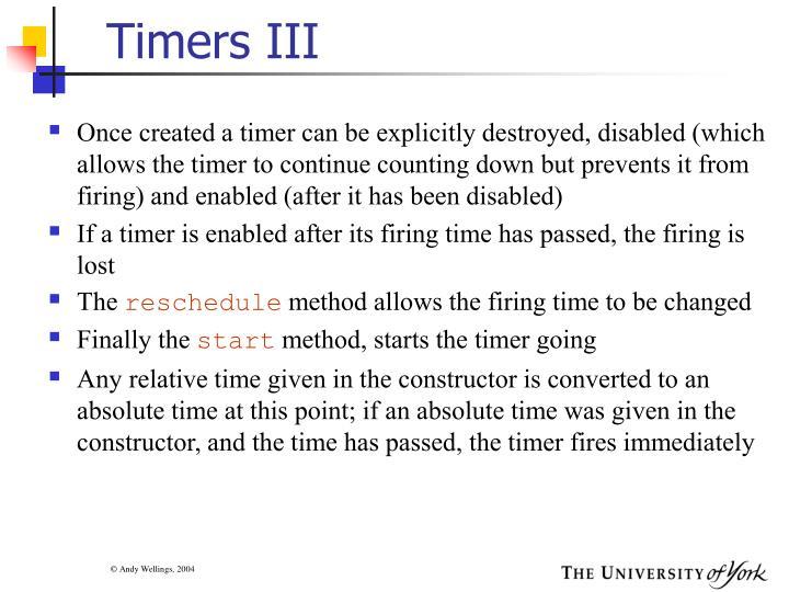 Timers III