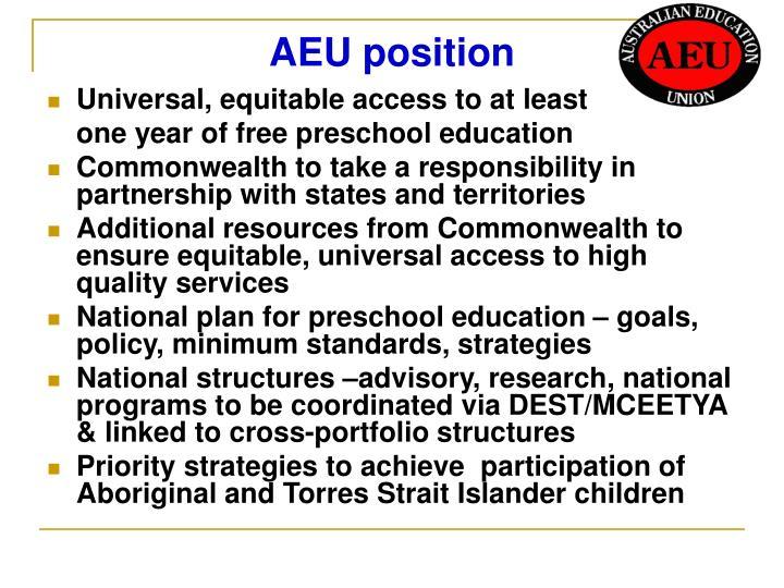 AEU position