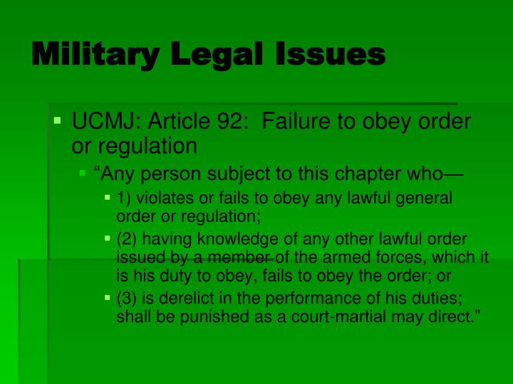 Military Legal Issues