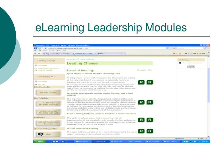 eLearning Leadership Modules