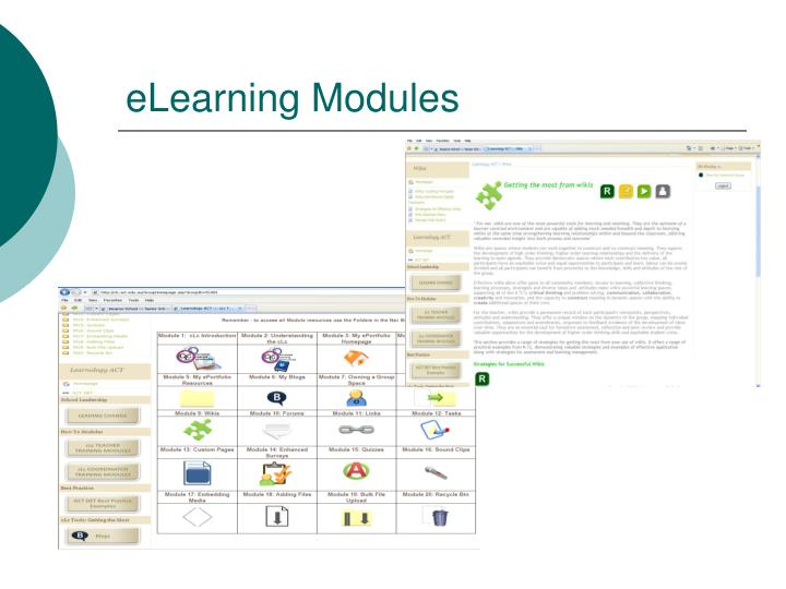 eLearning Modules