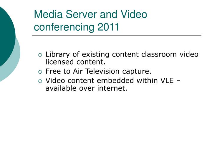 Media server and video conferencing 2011