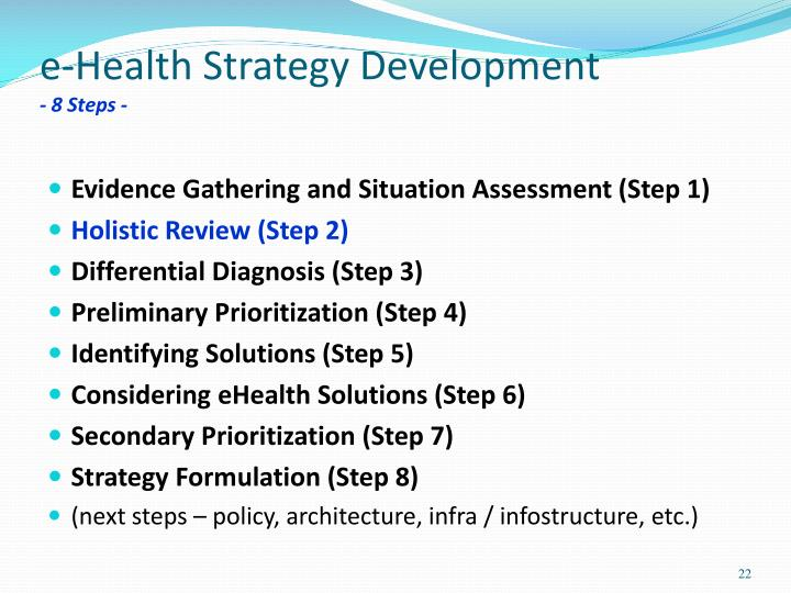 e-Health Strategy Development