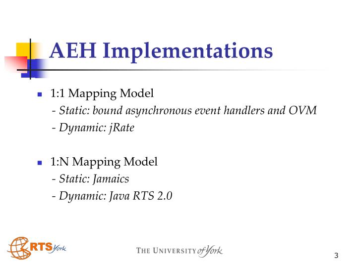 Aeh implementations