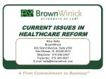 current issues in healthcare reform