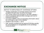 exchange notice