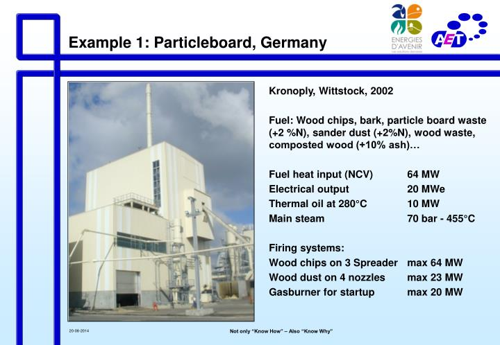 Example 1: Particleboard, Germany