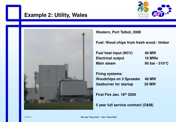 Example 2: Utility, Wales