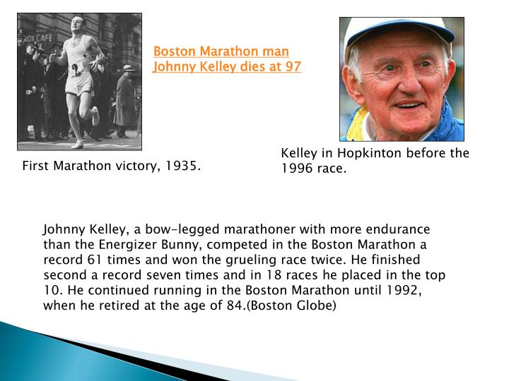 Boston Marathon man