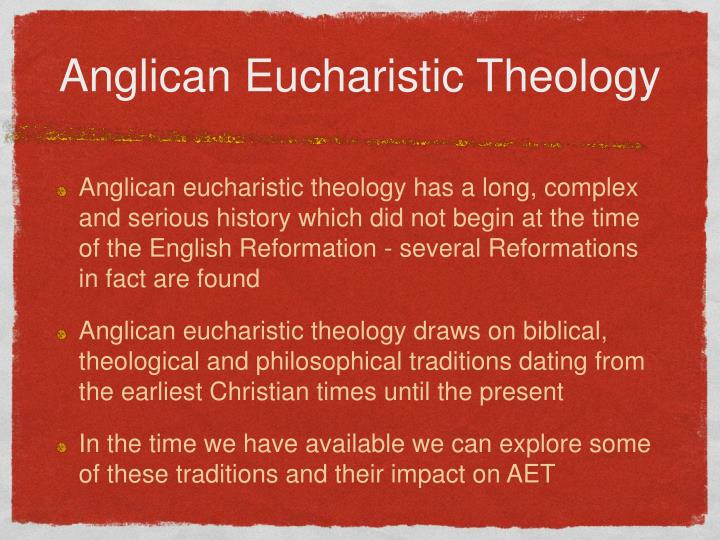 Anglican eucharistic theology1
