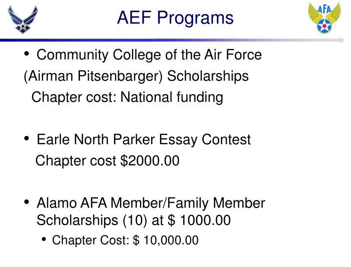 AEF Programs