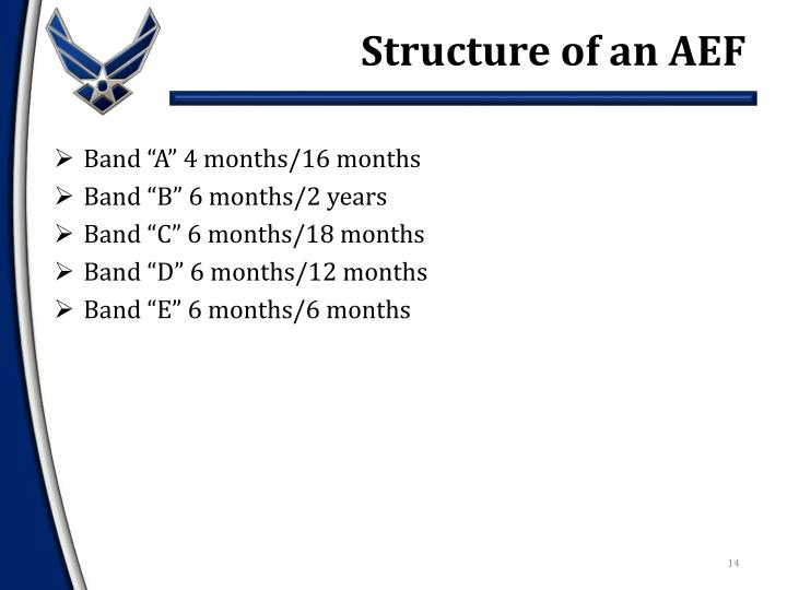 Structure of an AEF