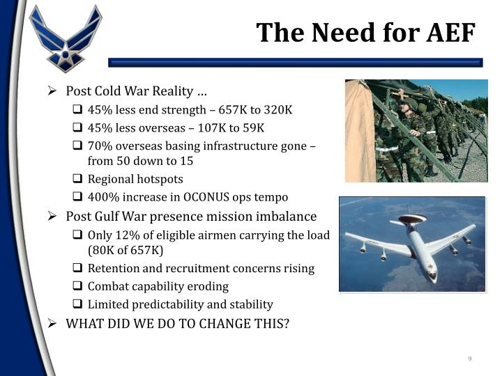 The Need for AEF
