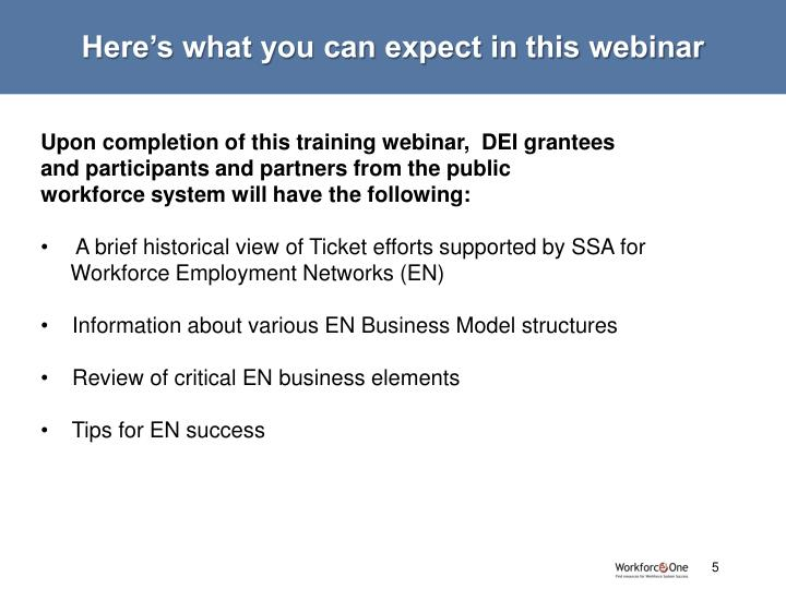 Here's what you can expect in this webinar