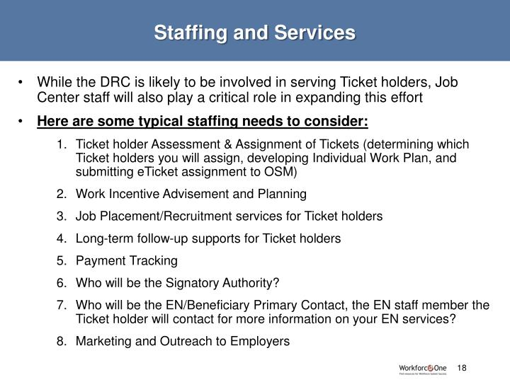 Staffing and Services