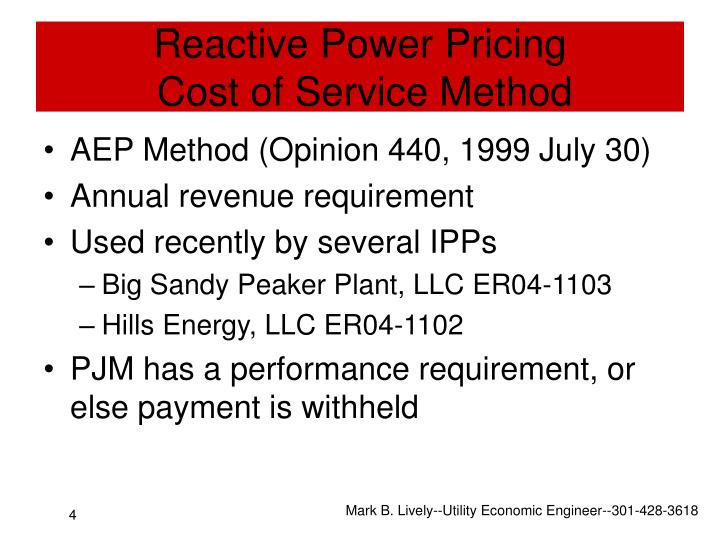 Reactive Power Pricing