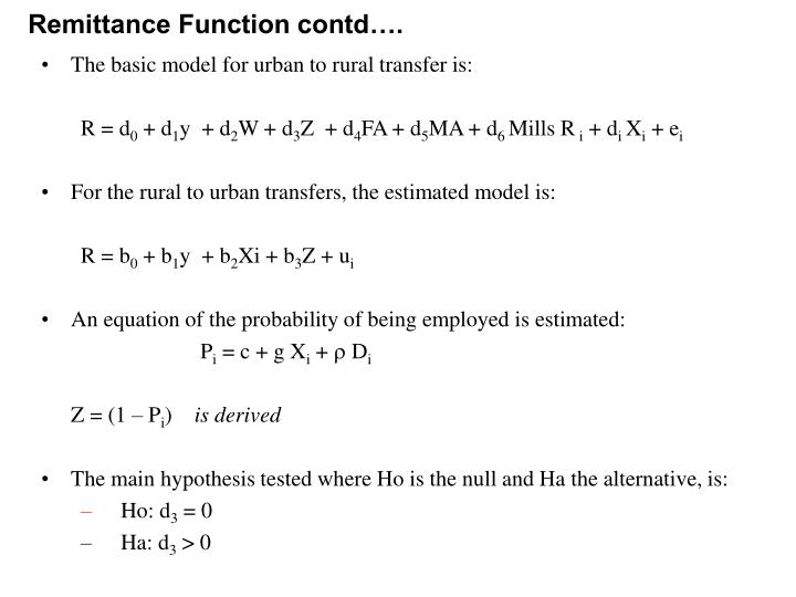Remittance Function contd….