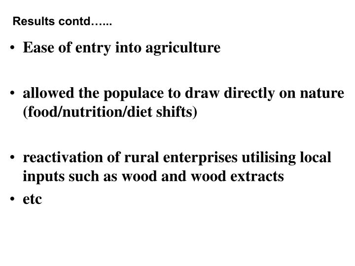 Results contd…...