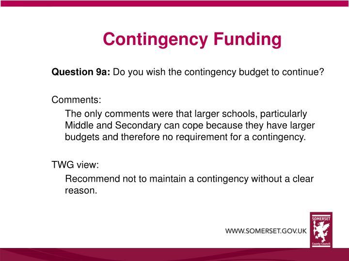 Contingency Funding