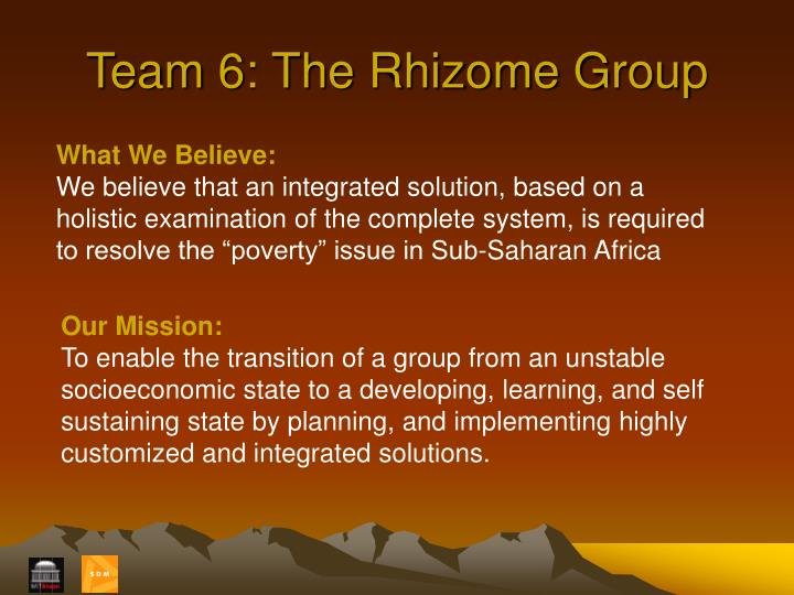 Team 6: The Rhizome Group
