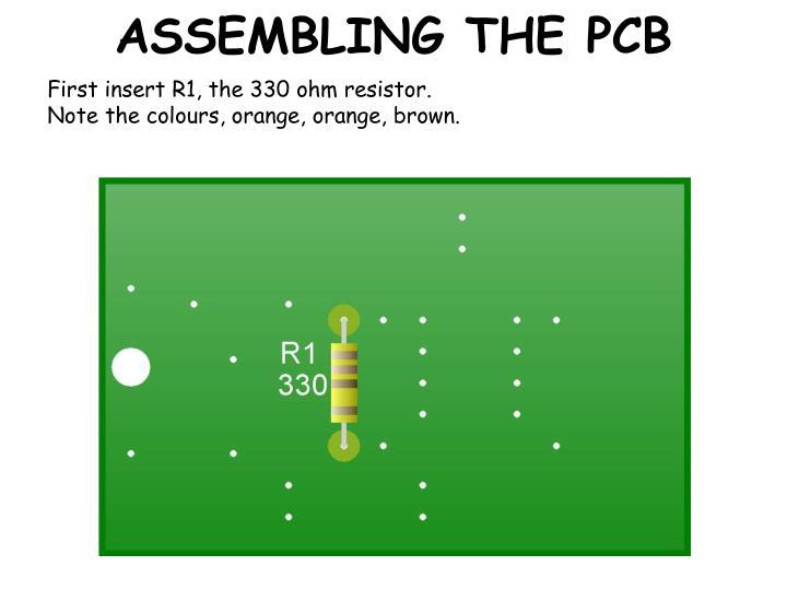 Assembling the pcb1