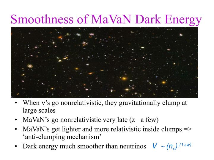 Smoothness of MaVaN Dark Energy
