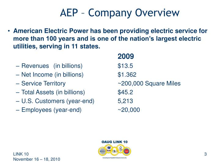 Aep company overview